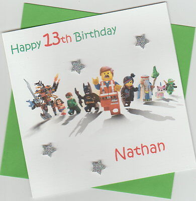 Batman Lego Movie Personalised Birthday Card Son Brother Sister