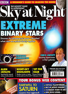 Sky at Night Magazine.  Issue 129  February 2016.  New condition.