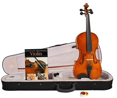 Windsor Full 4/4 Size Violin Package With Absolute Beginners Guide Book