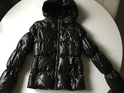 Benetton Shiny Hooded Puffer Jacket girls' L 8-9 yrs, new