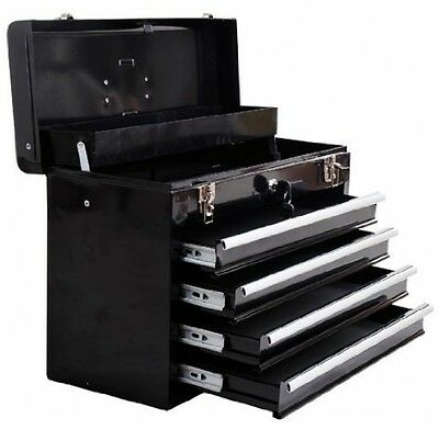 Homcom Portable Toolbox Tool Chest Box Cabinet Garage Storage Set With 4 Metal