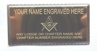 MASONIC CASE NAME PLATE ENGRAVED WITH LODGE No and NAME