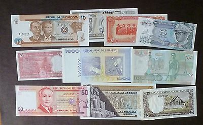 LOT # 1 of 10  different  banknotes UNC