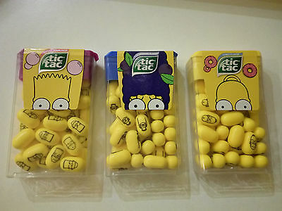 Set of 3 Ferrero Tic Tac THE SIMPSONS Limited Edition 2016 ALL PILLS PRINTED