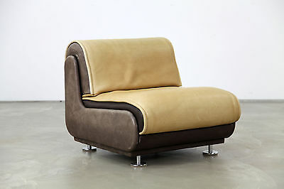 Lounge Chair with Neck-Leather 70s | Sessel | Dickes DeSede-Leder