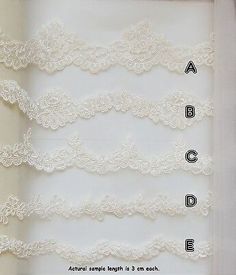 Top Quality Lace Trim & Bridal Tulle Sample set