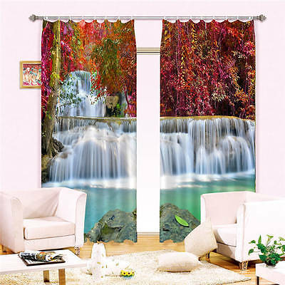 Delight Waterfall Gul 3D Curtain Blockout Photo Curtains Print Home Window Decor