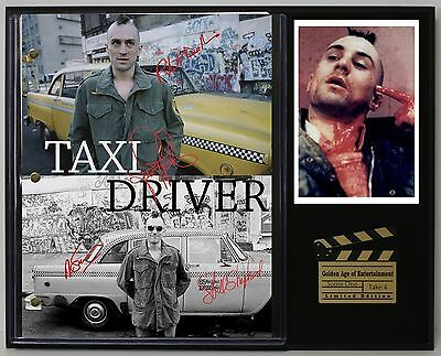 Taxi Driver - Reprinted Autograph Movie Script Display - USA Ships Free