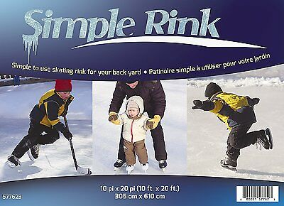 Adlonco 577623 SIMPLE RINK ice skating 10'x20' one freeze rectangular outdoors