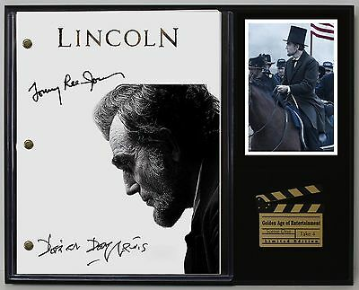 Lincoln - Reprinted Autograph Movie Script Display - USA Ships Free