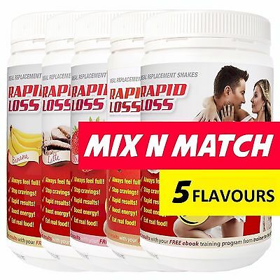 2 X Rapid Loss Shakes 750G = 1.5Kg + Free Shaker Choose Flavours Mix
