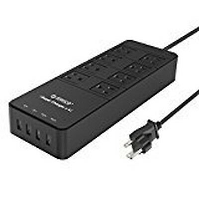 ORICO 8 Outlet Power Strip with Surge Protector Built-in 5 Ft. Cord 4 USB Int...