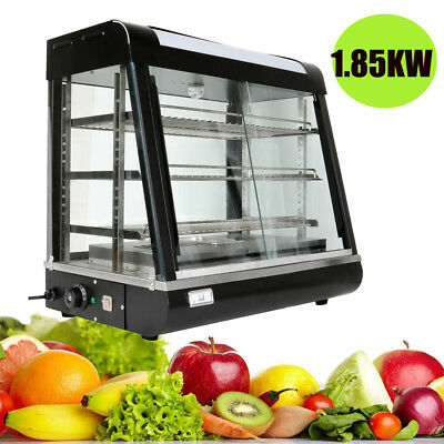 1850W Commercial Display Pie Warmer Display Cabinet Hot Food Showcase 30°C-110°C