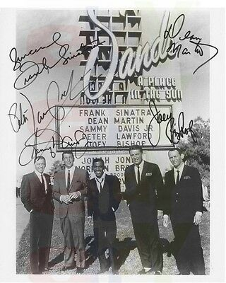 REPRINT RP 8x10 Signed Autographed Photo: The Rat Pack Frank Sinatra Dean Martin