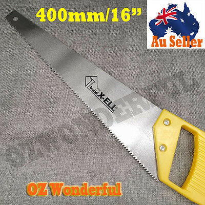 400mm 16'' HAND SAW HEAVY DUTY 7 teeth inch STEEL BLADE wood cutting hand tools