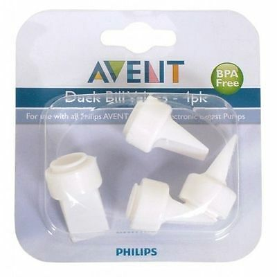 ~ Avent Breast Pump Spare Part White Duck Bill Valves 4 Valve Pk