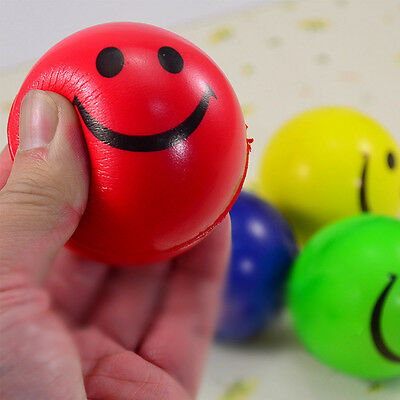 1Pc Funny Smile Squeeze Ball Toys Relief Stress  Foam Bouncy Toy
