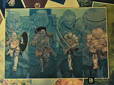 Dark Souls Four Knights Vintage Style Home Decor Poster Wall Painting B