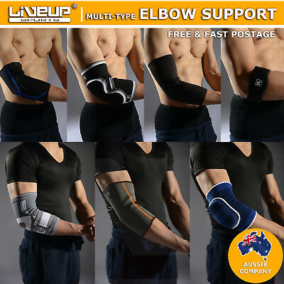 Adjustable Elbow & Arm Support Brace Strap Protect Gym Sports Tennis Basketball