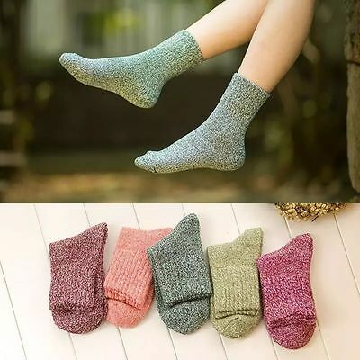Fashion Women Ladies Winter Wool Cashmere Socks Casual  Thick Ankle Socks Socks