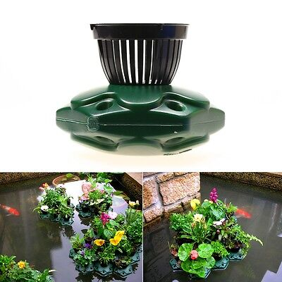 Aquaponics Floating Pond Planter Basket Set- Hydroponic Island Gardens Features