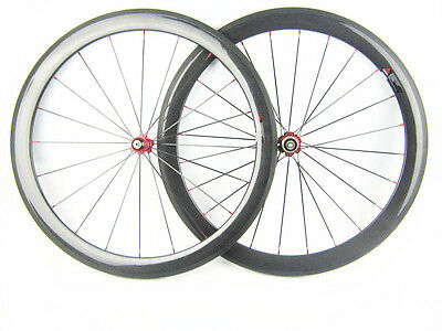 700C 50mm clincher bike carbon road bicycle wheels carbon wheelset high quality