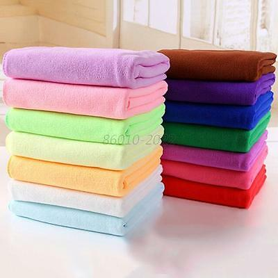 7 Colors Microfiber Drying Absorbent Bath Beach Towel Car Wash Cloth Cleaning