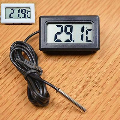 1Pcs Waterproof Mini LCD Digital Panel Temperature Meter Thermometer Probe Cable