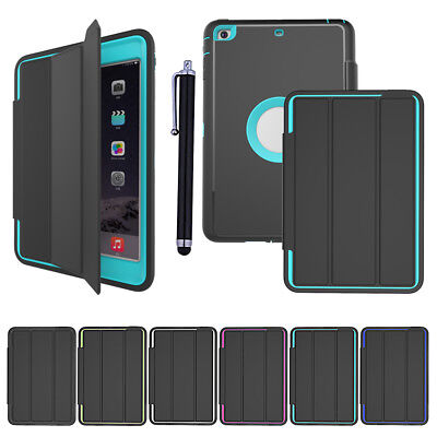 Heavy Duty Flip ShockProof Hard Case Smart Stand Cover for iPad 432 Mini Air Pro