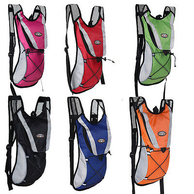 Hydration Backpack Water Bladder Bag Cycling Pack Hiking Camping 2L AU