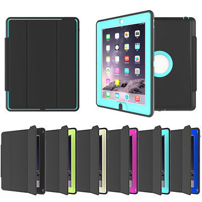 Heavy Duty Hybrid Shockproof Stand Flip Smart Case Cover For iPad / Air Mini Pro