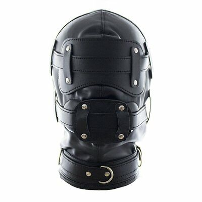 YiFeng Leather Costume Full GIMP MASK Hood - Ideal for Stag Do Party