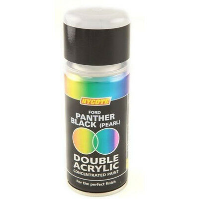 Hycote Ford Panther Black Pearl 150ml Double Acrylic Spray Paint Aerosol XDFD414