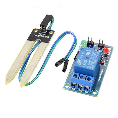 12V Relay Controller Soil Moisture Sensor Automatically Watering Humidity TE515