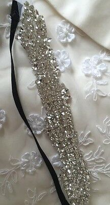 Diamanté Crystal Elastic Hair Band Piece Bridal Wedding Prom Accessories