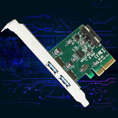 2 Ports 10Gbps USB3.1 Type A PCIe Express X4 Expansion Card LA31-12U ASM1142 GA