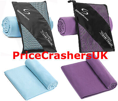 Microfibre Travel Towels Quick Dry Lightweight & Compact Sports Beach Gym Yoga