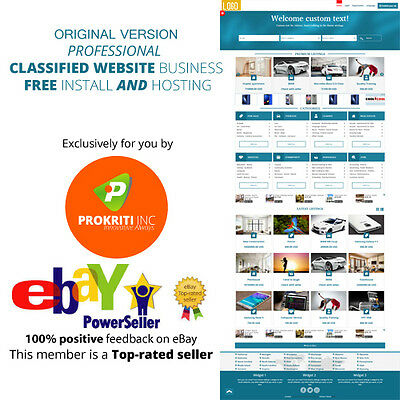 Original ⚡ Professional Classified website business ⚡ FREE install and Hosting