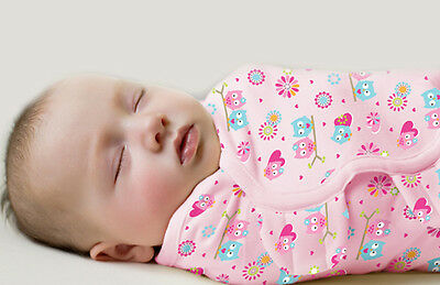 Summer Infant SwaddleMe Cotton Knit Small/Medium - Hearts and Hoots