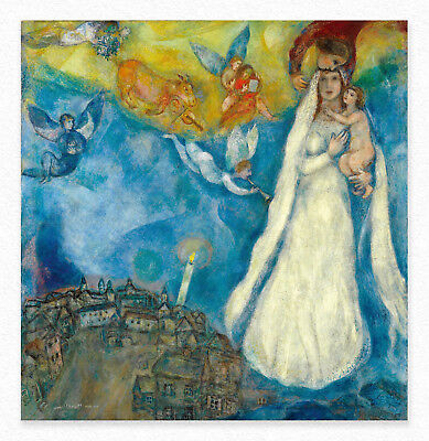 Marc Chagall  The Madonna of the Village 102x98 cm  STAMPA TELA CANVAS PRINT