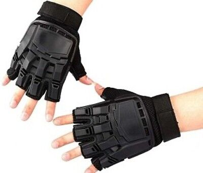 Paintball Air soft Tactical Motocross Cycling Armour Fingerless Gloves