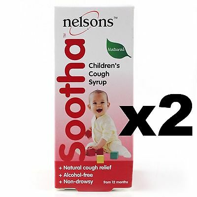 2 x Nelsons Sootha Cough Syrup, 150ml