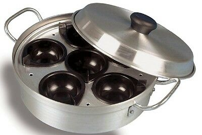 Egg Poacher with Lid 6 Cups Non Stick Cooker Frying Steamer Cooking Pan