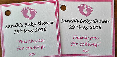1-100 Personalised Baby Shower Tags /Labels * Gift Tags * Thank You Guest Tags