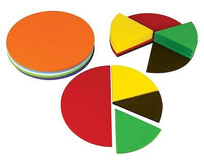 Fraction Circles Foam 51 pieces Maths Teacher Resources Educational Learning