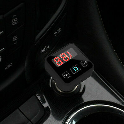 Car A2DP Bluetooth Audio Receiver & FM Transmitter LED USB 5V Charger MP3 Player