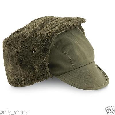 Dutch Army Cold Weather Hat Winter Trapper Hat Olive Green Military Surplus NEW