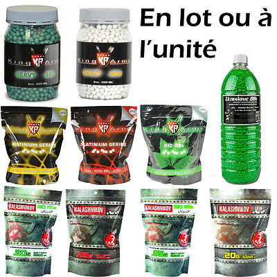 Lot de sachets de billes (BBS) Airsoft - 0,20 / 0,25 / 0,28 etc... - Pistolet