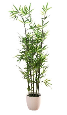 3.75 ft. (45 in.) Faux Bamboo Plant - Lush Artificial Bamboo in Plastic Pot