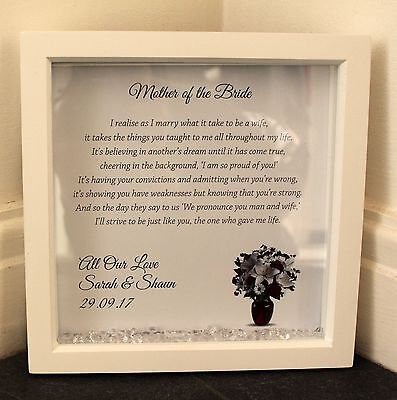 Personalised Box Frame,Wedding,Mother of the Bride,Favour,Gift,Present,